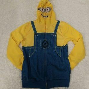 Kid's Despicable Me Character Zip Up Fleece Hoodie
